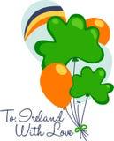 St. Patricks Day Balloons Stock Photo