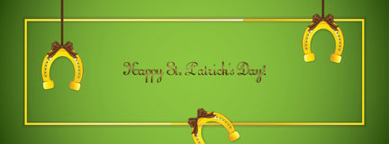St. Patricks Day banner Royalty Free Stock Photography