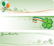 St Patricks Day Banners Royalty Free Stock Image