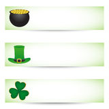 St. patricks day banners. Collection of St. patricks day banners Royalty Free Stock Images