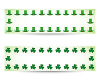 St. patricks day banners Royalty Free Illustration