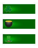 St. patricks day banners Royalty Free Stock Image