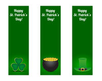 St. patricks day banners. Set of St. patricks day banners Stock Photography