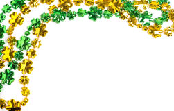 St. Patricks Day beads on a white background Royalty Free Stock Photo