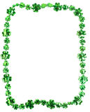 St. Patricks Day beads on a white background. St. Patricks day beads on a white backgound with copy space Stock Photos