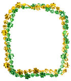 St. Patricks Day beads on a white background Royalty Free Stock Photos