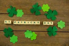 St Patricks Day blocks with shamrocks Royalty Free Stock Images