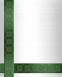 St Patricks Day Border Celtic Knot  Stock Photography