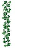 St Patricks Day Border shamrocks royalty free illustration