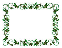 St Patricks Day Border Shamrocks Stock Images