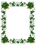 St Patricks Day Border Shamrocks. 3D Illustration for St Patricks Day Card, background, border or frame with enameled shamrocks and copy space Stock Photo
