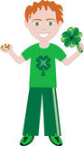 St Patricks Day Boy Stock Photo