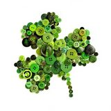St Patricks Day button shamrock Royalty Free Stock Photo
