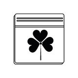 St patricks day calendar clover icon thin line Royalty Free Stock Photo