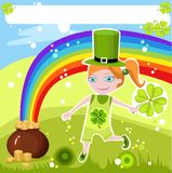 St.patricks day card Stock Photo