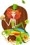 St.patricks day card Royalty Free Stock Photo
