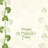 St. Patricks Day Card Stock Photo