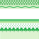 St. Patricks Day Card. Green and white pattern for St. Patrick's Day card with space for text Royalty Free Stock Images