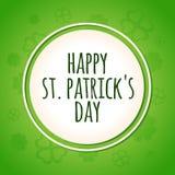 St Patricks Day card background. St. Patrick`s Day card background, simple vector illustation royalty free illustration