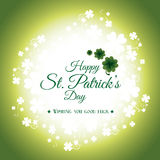 St patricks day card design,  illustration. Royalty Free Stock Photo