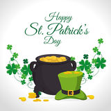 St Patricks Day Card Design, Vector Illustration. Stock Images
