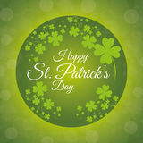 St patricks day card design, vector illustration. Royalty Free Stock Photos