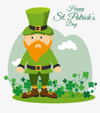 St patricks day card design, vector illustration. Stock Photo