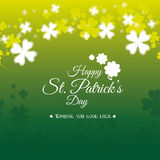 St patricks day card design, vector illustration. Stock Image