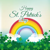 St patricks day card design, vector illustration. Royalty Free Stock Images