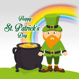 St patricks day card design, vector illustration. Stock Photography