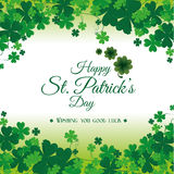 St patricks day card design, vector illustration. Royalty Free Stock Photo