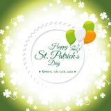 St patricks day card design, vector illustration. Stock Image