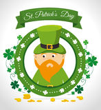St patricks day card design, vector illustration. Stock Photos