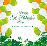 St patricks day card design, vector illustration. Royalty Free Stock Photography