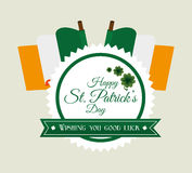 St patricks day card design, vector illustration. Royalty Free Stock Image
