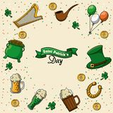 St patricks day card. Icon vector illustration graphic design Stock Photos