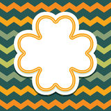 St Patricks Day card with 4 leaf clover on chevron Stock Photography