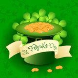 St. Patricks Day Card with  Leprechaun Hat Stock Image