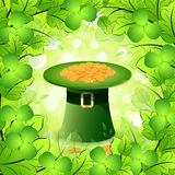 St. Patricks Day Card with  Leprechaun Hat Royalty Free Stock Images