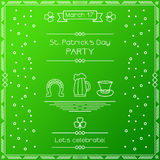 St patricks day card. Royalty Free Stock Images