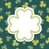 St Patricks Day card with shamrock text frame Royalty Free Stock Photo
