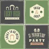 St. Patricks Day Cards Collection Stock Photo
