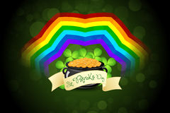 St. Patricks Day Cauldron with Gold Coins Royalty Free Stock Image