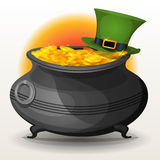St. Patricks Day Cauldron Royalty Free Stock Images
