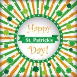 St Patricks Day Circle Hole Background Stock Photos