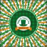 St Patricks Day Circle Hole Tartan Emblem Royalty Free Stock Photos