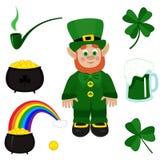 St. Patricks Day clip-art. On white background Stock Photo