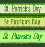 St Patricks day. Clover font Stock Images