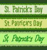 St Patricks day. Clover font Stock Images