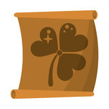 St patricks day clover papyrus Royalty Free Stock Photography